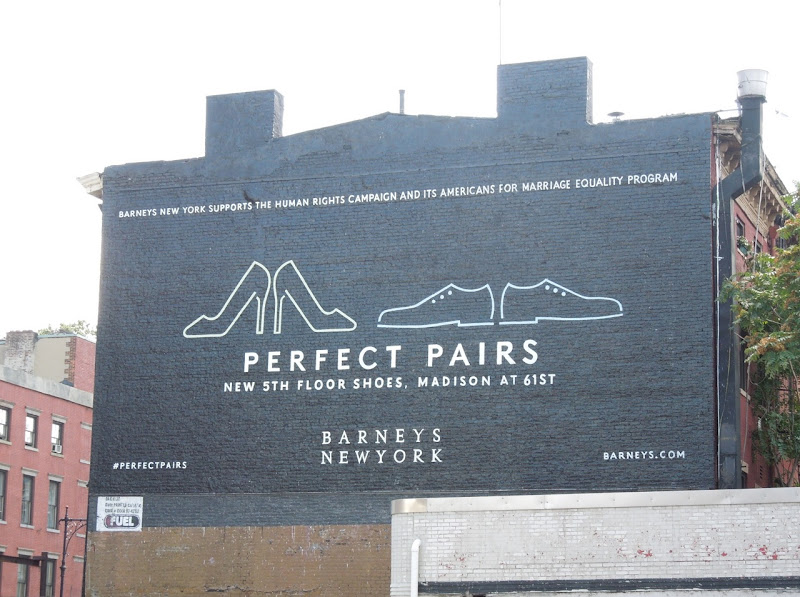 Barneys New York Perfect Pairs equality billboard