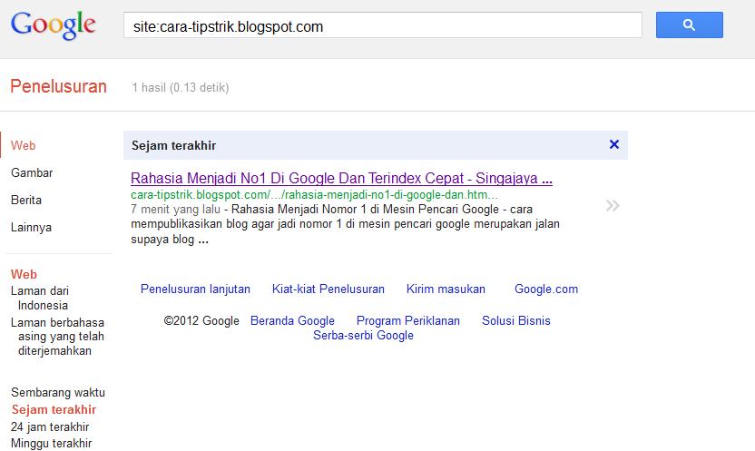Rahasia Menjadi Ranking 1 Di Google