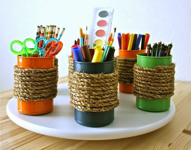Creative tin can craft arts and crafts ideas projects for Creative arts and crafts ideas