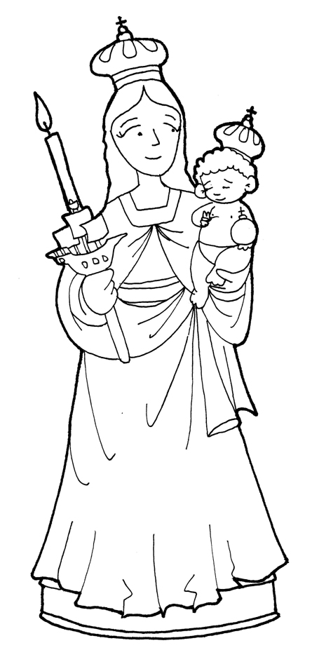 Dibujo de la virgen de chiquinquira para colorear - Imagui