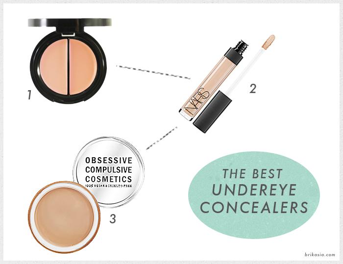 best concealers for undereye circles, NARS Radiant Creamy Concealer, Obsessive Compulsive Cosmetics Skin Conceal, Eve Pearl Salmon Concealer, undereye concealers