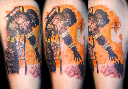 Rescuing Fireman Tattoo