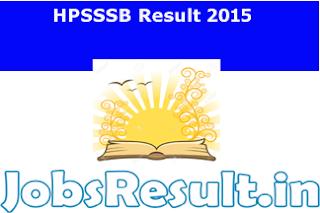 HPSSSB Result 2015