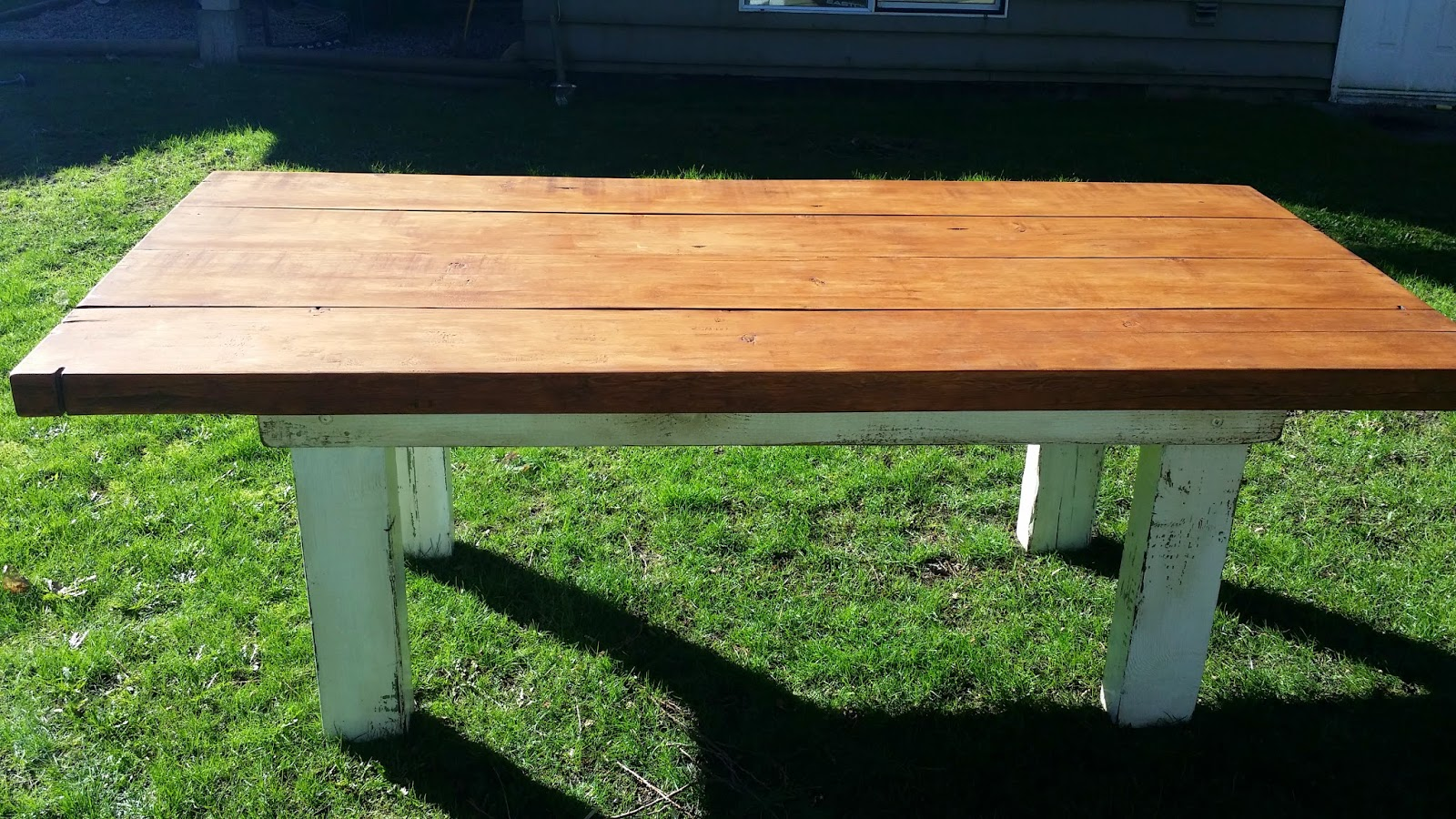 A Truly Incredible 7u0027 Harvest Table Made From A Single Locally Sourced,  Reclaimed Douglas Fir Post! The Combination Of Clear Grain Sections And  Old, ...