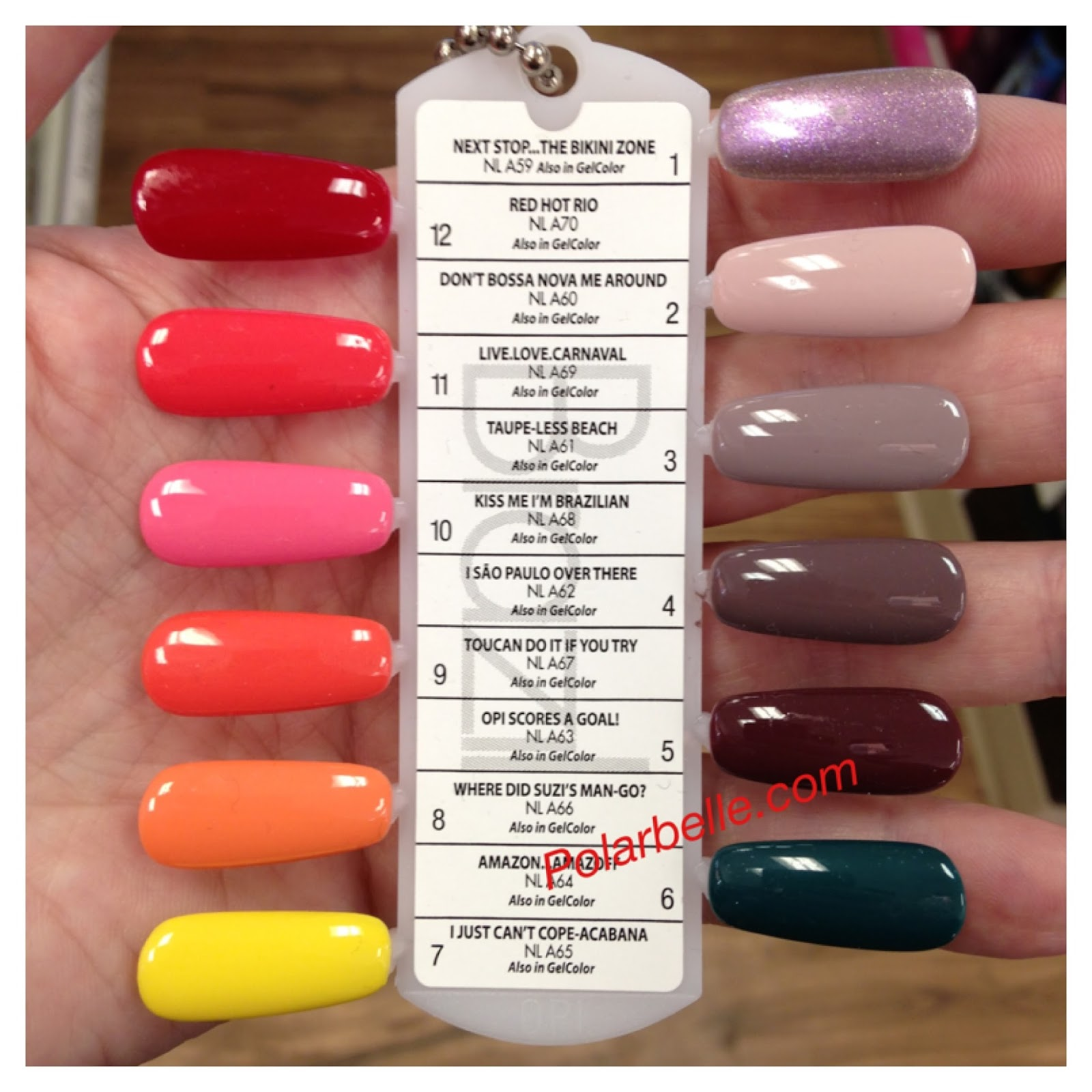 OPI Brazil nail polish collection swatches, Spring 2014