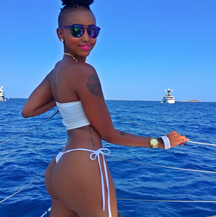 BBA Huddah puts her butt on display as she parties in Ibiza (photos)