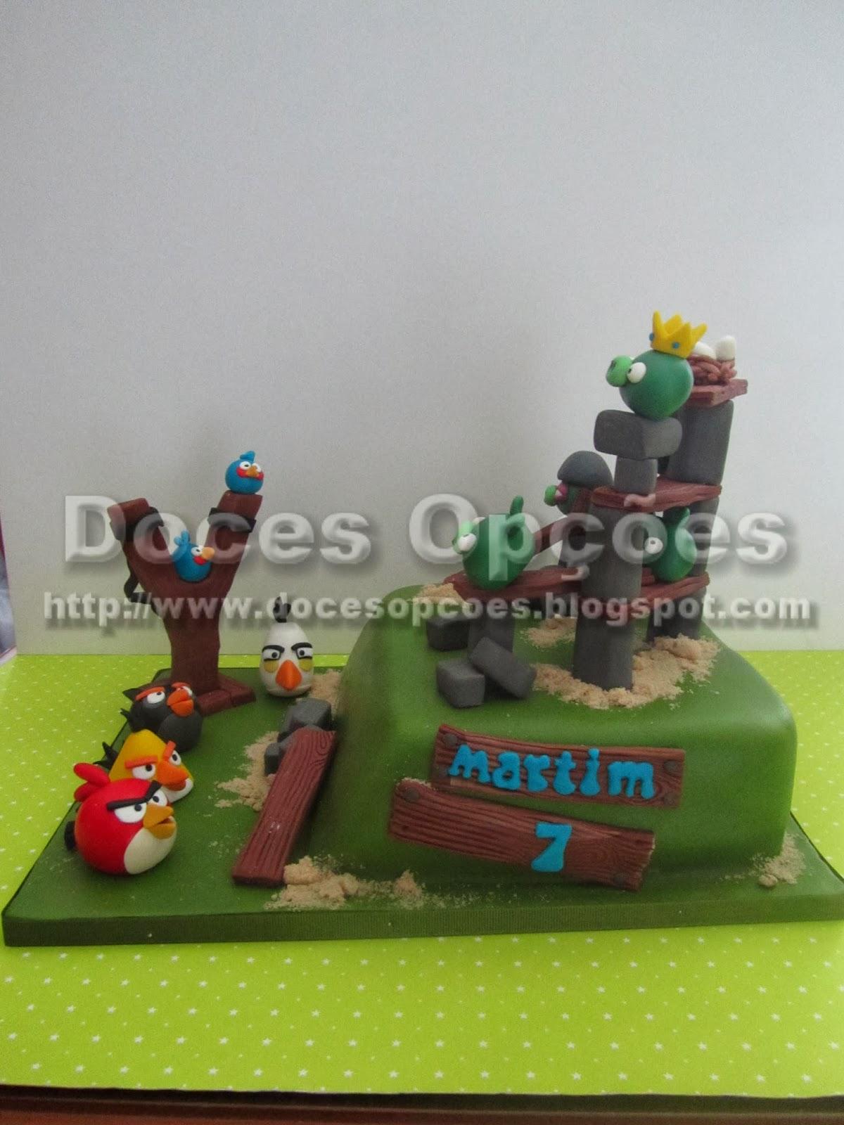Bolo aniversário Angry Birds