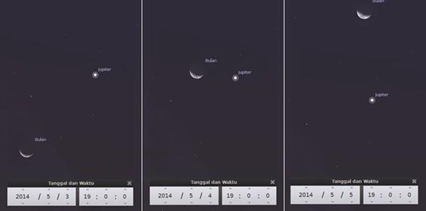 Jupiter Bakal Berkencan dengan Bulan Selama 3 Malam