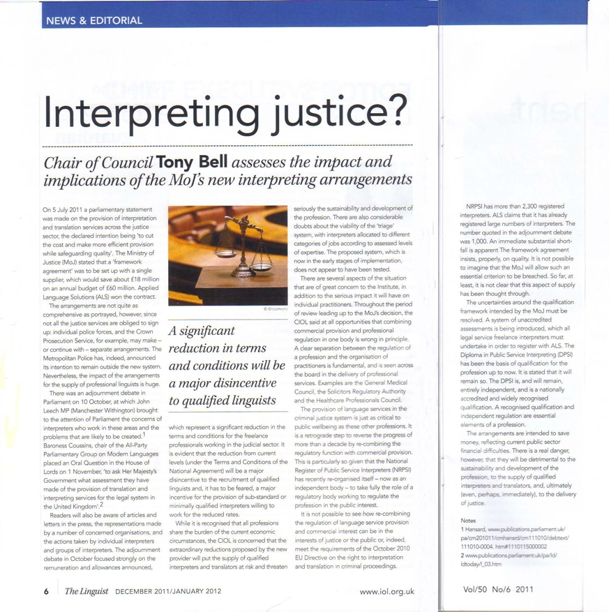 an argument of giving five interpretations of justice Yet because socrates links his discussion of personal justice to an account of justice in the city and makes claims about how good and bad cities are arranged, the republic sustains reflections on political questions, as well.