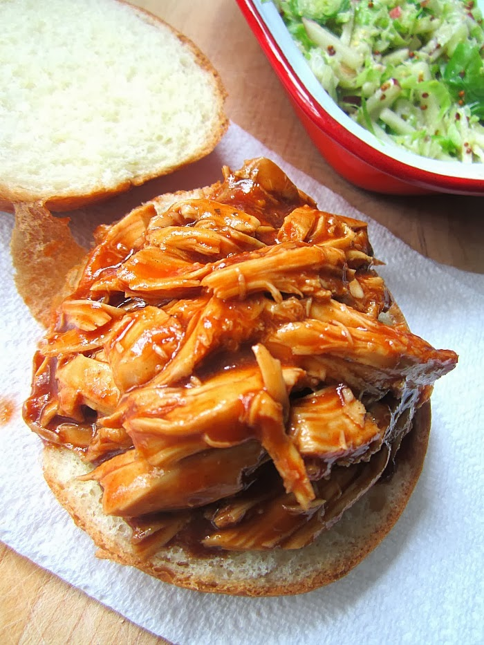 Shredded BBQ Chicken Sammie Recipe — Dishmaps