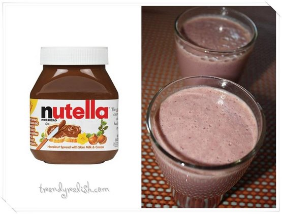 Nutella Fruit Shake