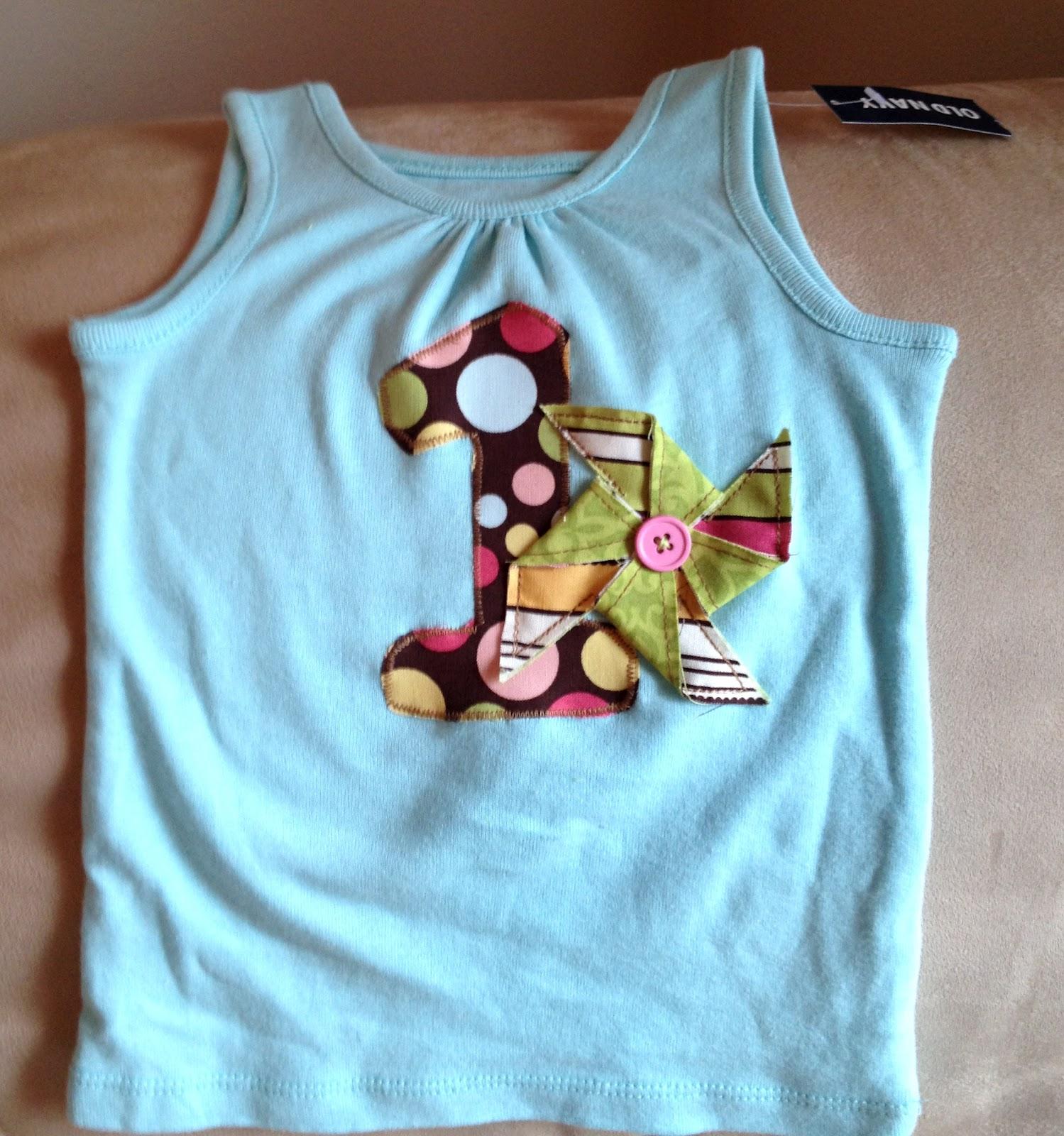 The Copycat Crafter: ONE {DIY Birthday Shirt}