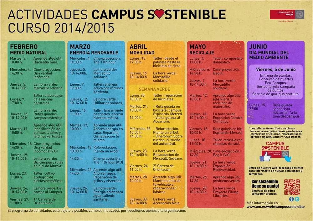 Cartel de Actividades curso 2014/2015