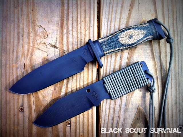 Black Scout and Razorback Survival Knife System
