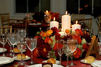 Camellias Wedding Centerpieces