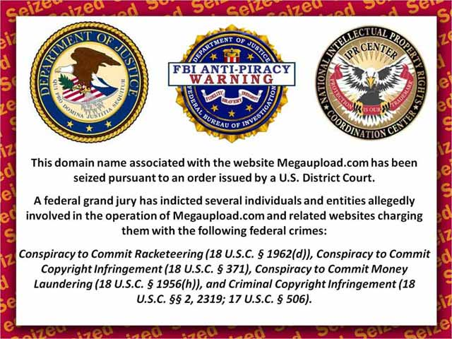 FBI cierra Megaupload