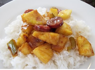 Kielbasa Pineapple Stir Fry