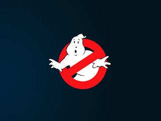 Ghostbusters Ghost Warning Sign Minimal Halloween Wallpaper