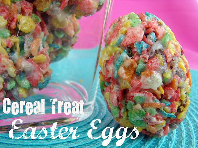 Cereal Treat Easter Eggs #recipe from @KatrinasKitchen at www.inkatrinaskitchen.com