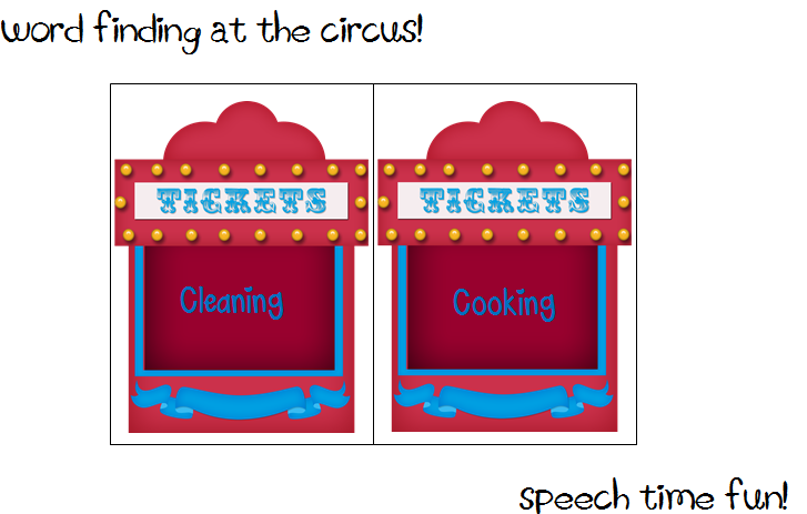 Speech Time Fun: Word Finding Fun at the Circus