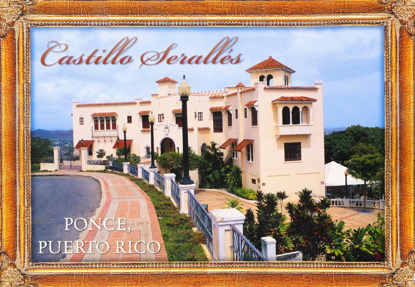 postcard, puerto rico, castillo serrallés