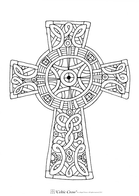 Gratifying image in cross coloring pages printable