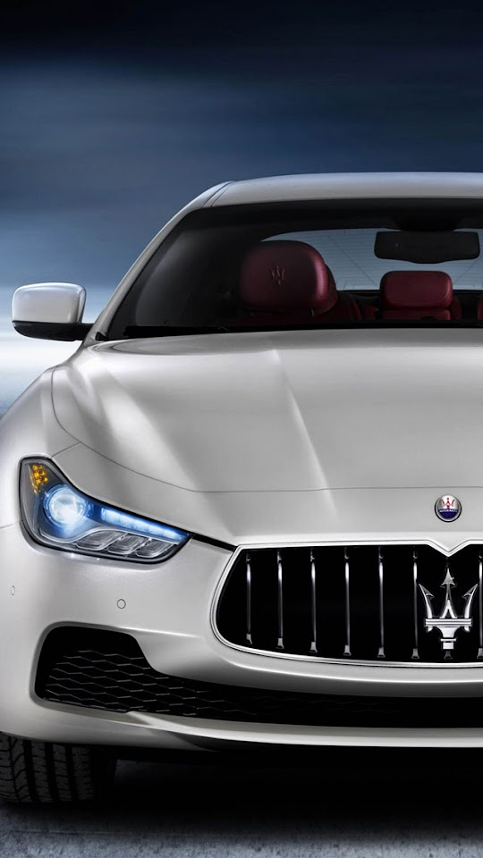 2014 Maserati Ghibli White   Galaxy Note HD Wallpaper