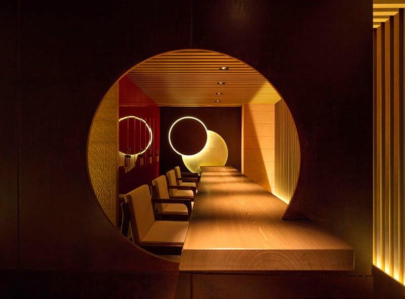mejores diseños de interiores de bares y restaurantes del mundo, Tsukimichi