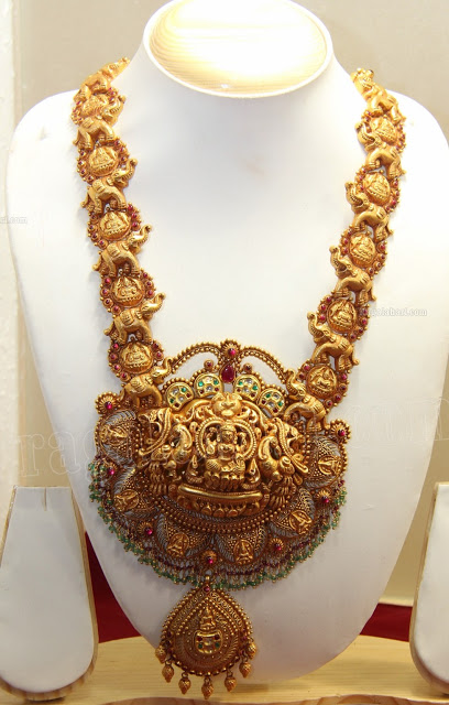 Jewellery Designs Antique Temple Jewellery Haram Design
