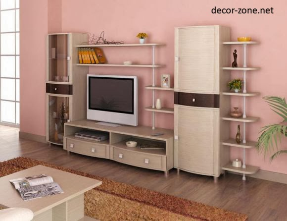 stylish tv wall units for living room in modern style | dolf krüger