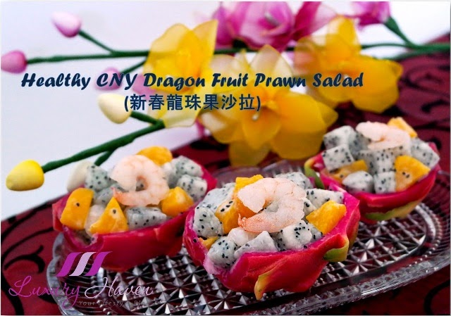 chinese new year dragon fruit prawn salad recipes