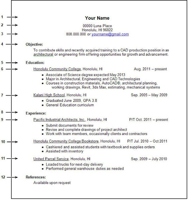 Resume Format For College Student – College Student Resume