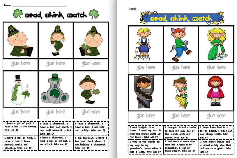 Activity worksheets for 1st grade