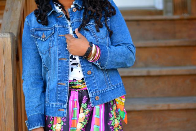 jean jacket maxi skirt pinterest