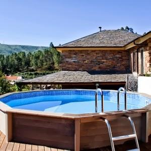 Case di lusso materiali particolari per una piscina sul terrazzo - Piscina gonfiabile terrazzo ...