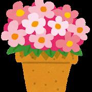 鉢植えの花のイラスト