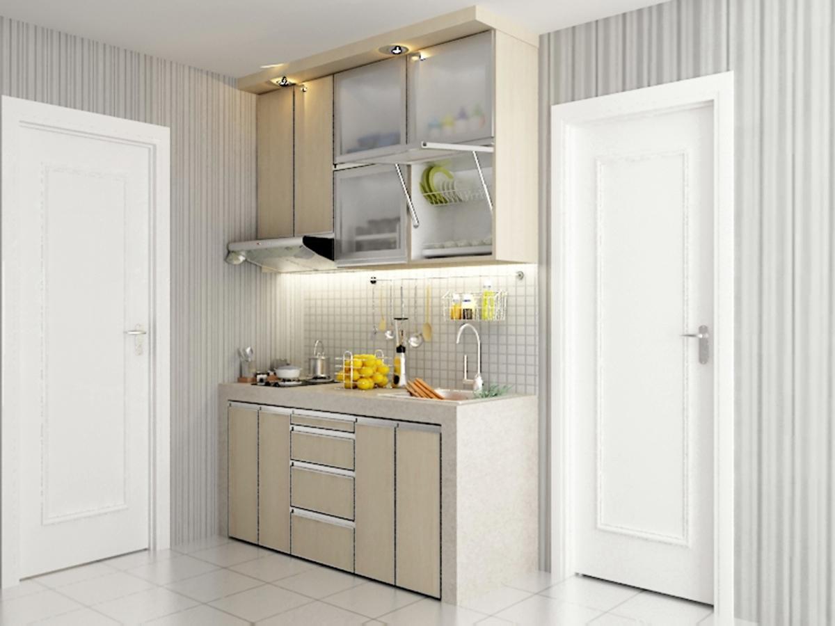 Kitchen set apartemen dian interior design for Kitchen set apartemen