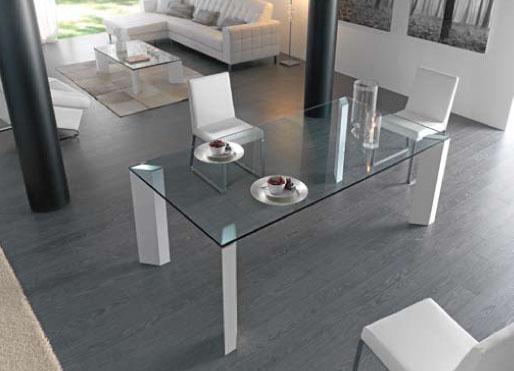 Mesas de comedor de cristal for Mesas de comedor cristal transparente
