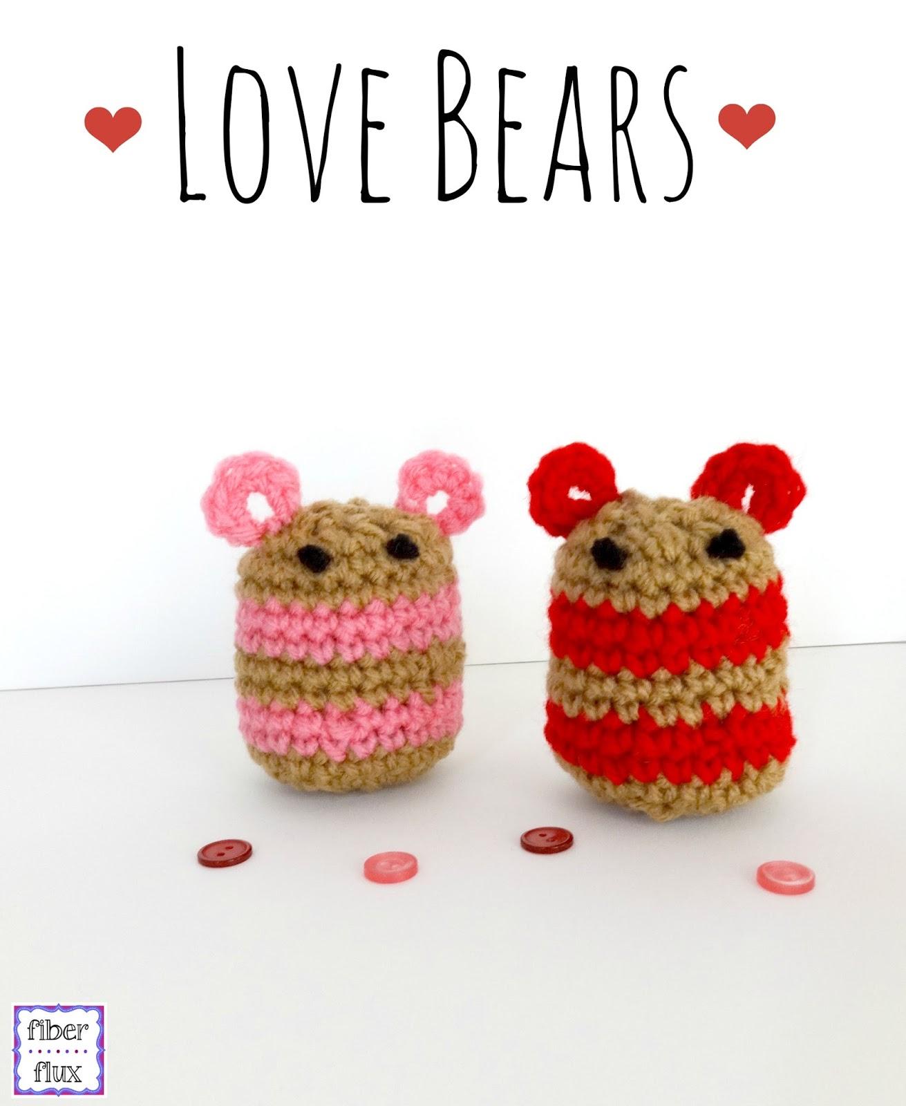 Love Crochet Patterns : Fiber Flux: Free Crochet Pattern...Love Bears!