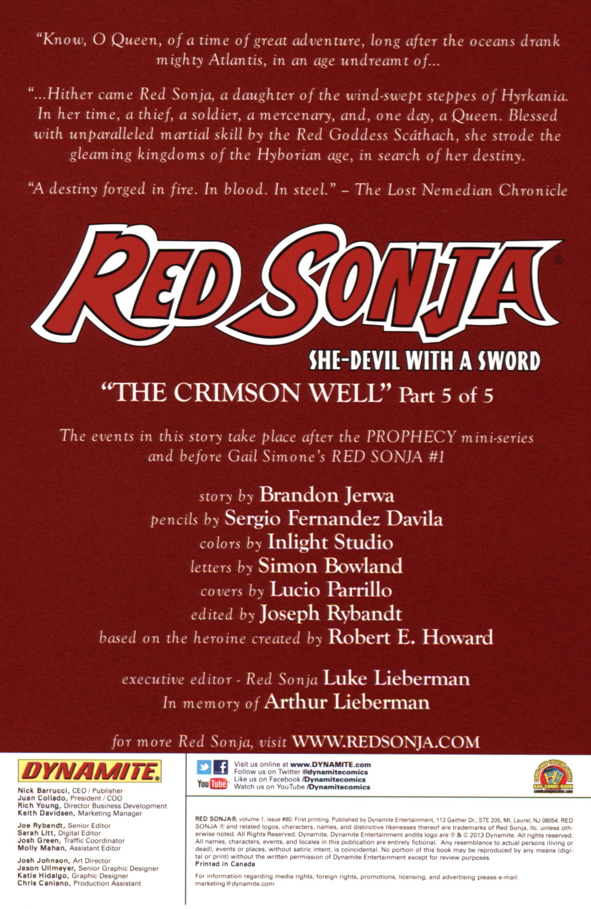 Red Sonja (2005) chap 80 pic 2