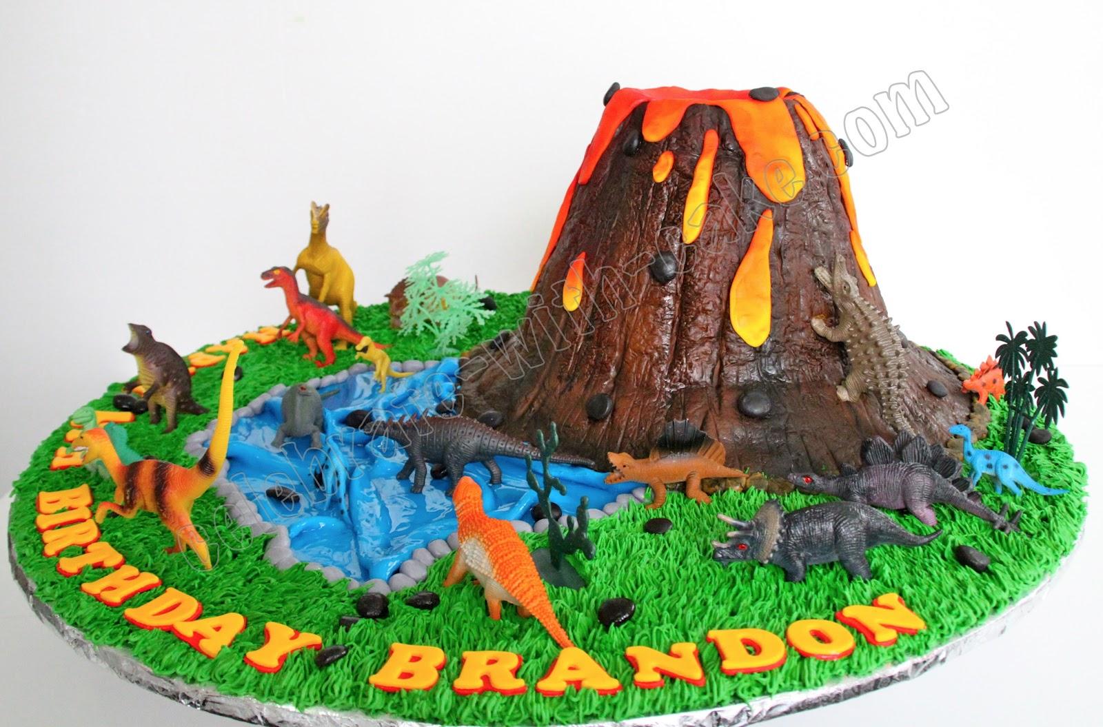 Celebrate With Cake Volcano Dinosaur Cake