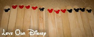 Mickey Chore Sticks to ear money for Disney. Great for kids. LoveOurDisney.com has a tutorial for it.