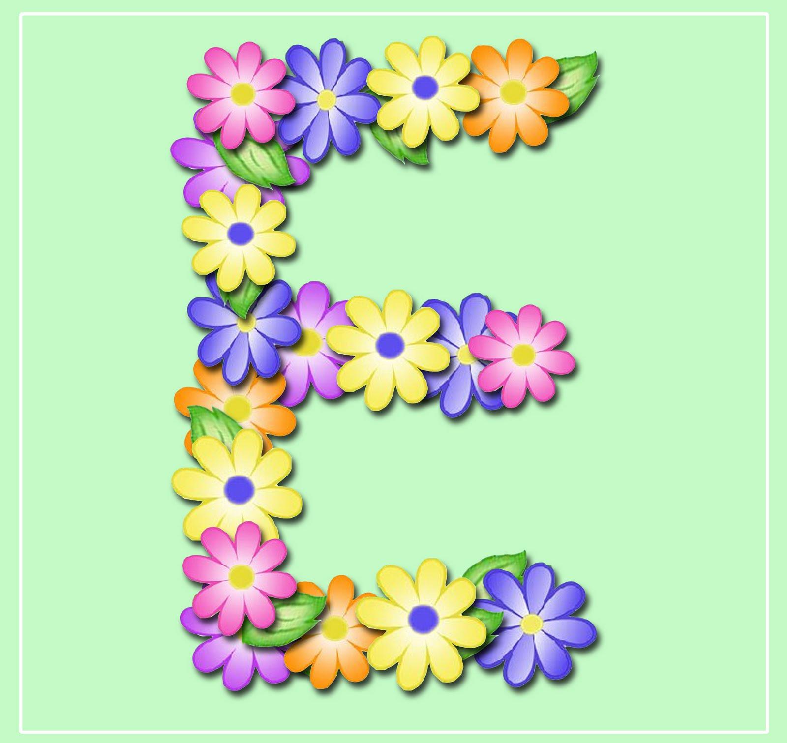 "... ENCHANTED'S BLOG: ""Pastel Floral"" Free Scrapbook Alphabet in JPG & PNG"