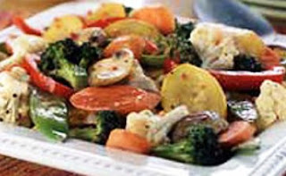 Picture of Sauté Vegetables on white plate