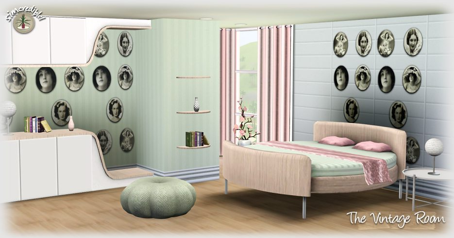 My sims 3 blog the vintage room by simcredible designs for Sims 3 bedroom designs