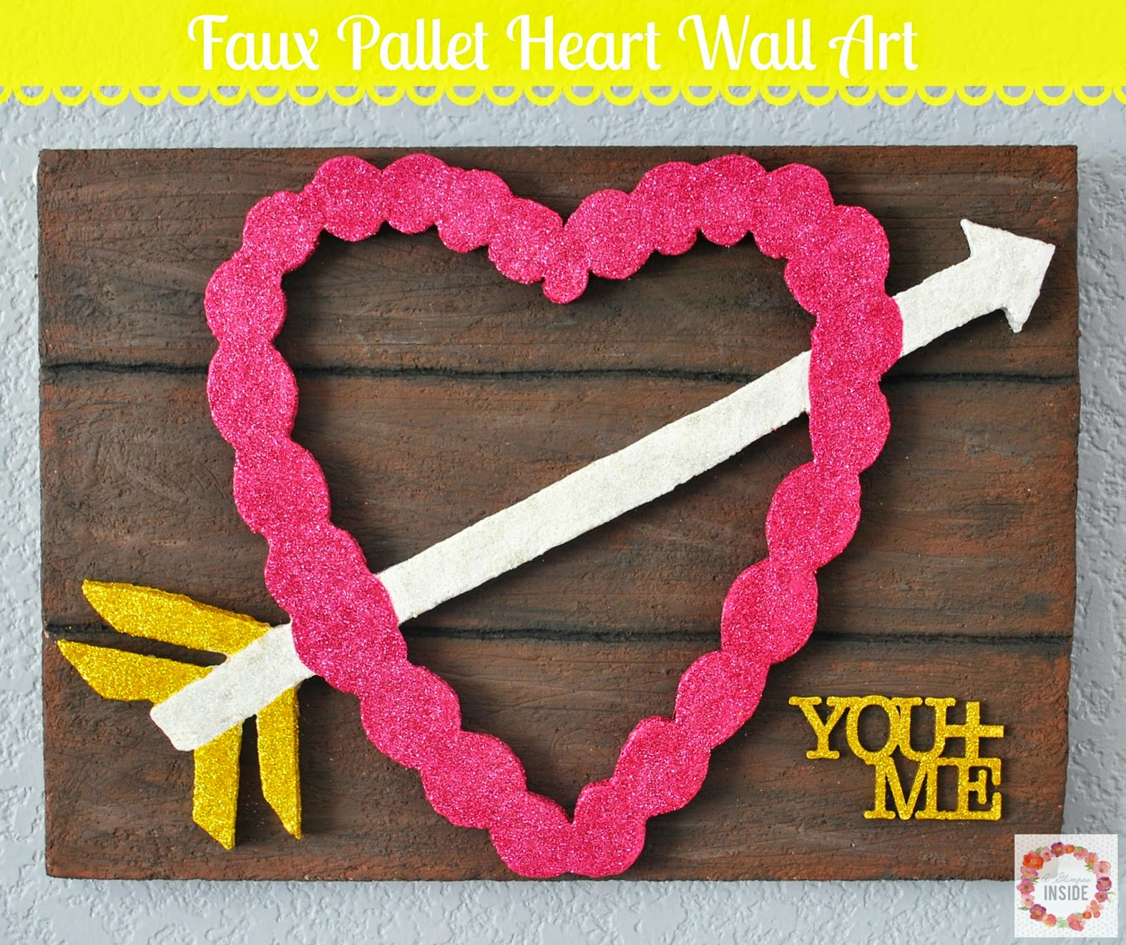 Faux Pallet Heart Wall Art A Glimpse Inside