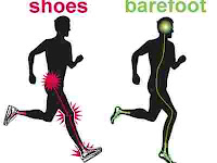 Lari Tanpa Alas Kaki (Sepatu)