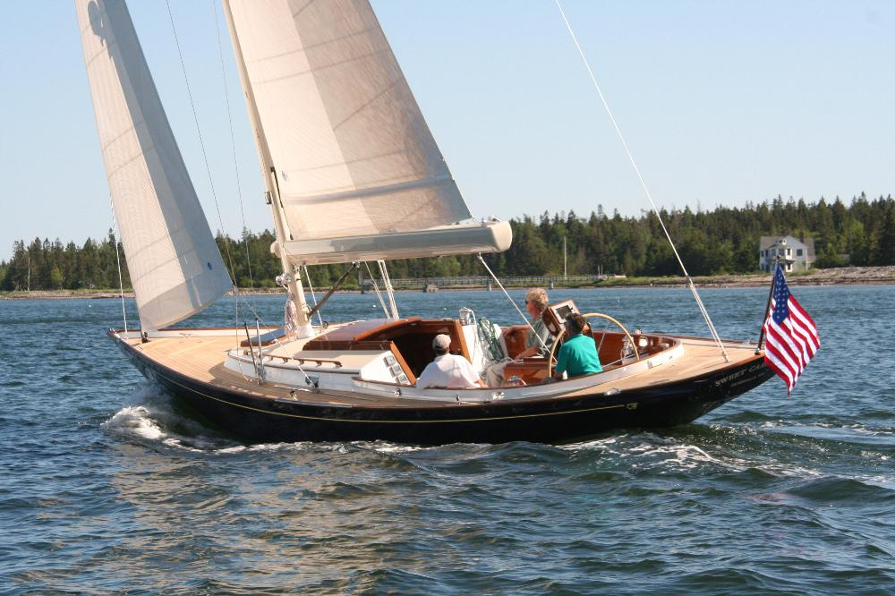 "2 ""TEAL"" 42' Hinckley Daysailor built in 2007 to a Bruce King design."
