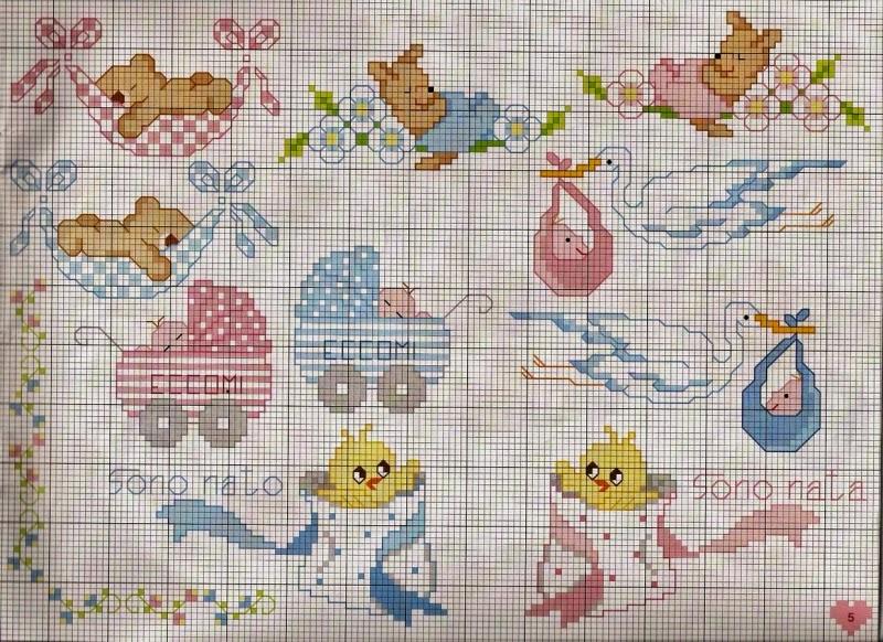 Grande raccolta di schemi e grafici per punto croce free for Schemi punto croce bambini gratis