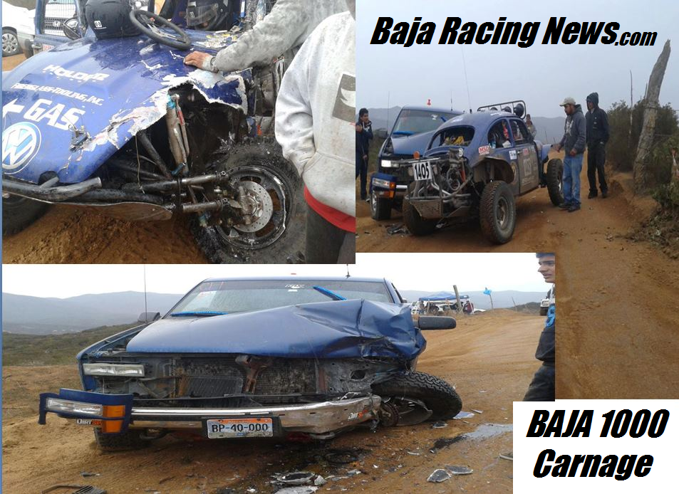 Spectator survives getting smashed and run over in Baja ...